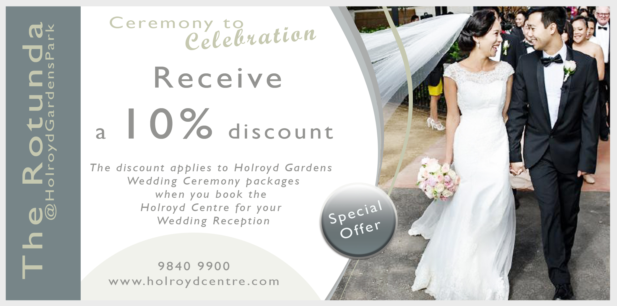 Special Offer for your Ceremony to Celebration